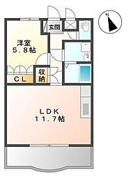 埼玉県さいたま市岩槻区大字上野の賃貸アパートの間取り