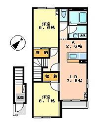 サンライズ[2階]の間取り