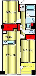 JR山手線 大塚駅 徒歩9分の賃貸マンション 4階2LDKの間取り