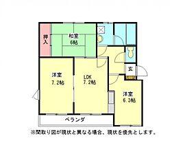 愛知県一宮市奥町字堤下二の賃貸マンションの間取り