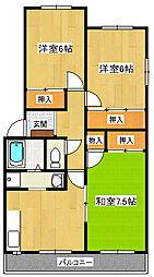 長谷川マンションII[2階]の間取り