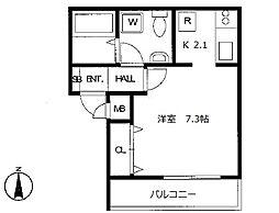 埼玉県八潮市大字南後谷の賃貸アパートの間取り