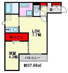 D-room大橋[1階]の間取り
