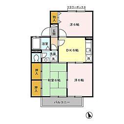 埼玉県熊谷市伊勢町の賃貸アパートの間取り