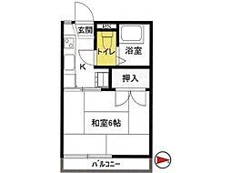 フォーブル三上[2階]の間取り