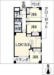 コモド覚王山[4階]の間取り