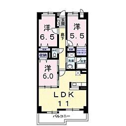 ゴールデン50[4階]の間取り