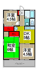 シティハイム松島[2階]の間取り