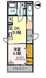 JYOHOKU欅STREET[301号室]の間取り