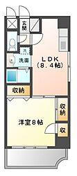 レイクタワーマンション[9階]の間取り