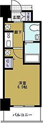 エステムコート難波WEST-SIDE2 ベイフレックス[2階]の間取り