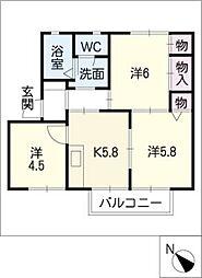 ドミールマリノII A棟[2階]の間取り