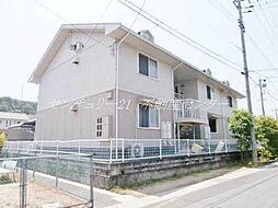 岡山県岡山市北区万成東町の賃貸アパートの外観