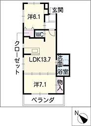 ムッターハウス[2階]の間取り