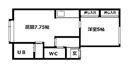 北海道札幌市豊平区月寒東四条8丁目の賃貸アパートの間取り