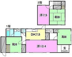 [一戸建] 愛媛県松山市久万ノ台 の賃貸【愛媛県 / 松山市】の間取り