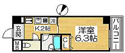 シュプレーム堺[3階]の間取り