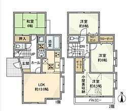 [一戸建] 神奈川県相模原市緑区二本松1丁目 の賃貸【/】の間取り