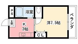 ハイム甲風園[2階]の間取り