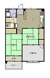 紫房苑1号棟C[3階]の間取り