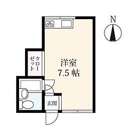 アパートメント 12[201号室]の間取り