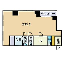 三角ビル[3階]の間取り