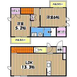 [テラスハウス] 東京都三鷹市深大寺1丁目 の賃貸【/】の間取り