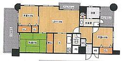 エステートマンション久留米医大前壱番館[4階]の間取り