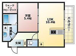 メゾンクレール[6階]の間取り
