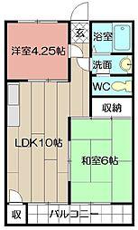 米谷堺町マンション[503号室]の間取り
