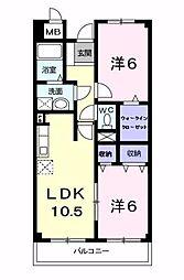 ル・グランパレ[1階]の間取り