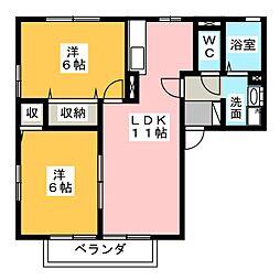 グリーンアベニュー[2階]の間取り