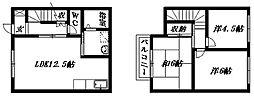[テラスハウス] 静岡県浜松市南区鼡野町 の賃貸【静岡県 / 浜松市南区】の間取り