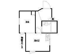 コスモ三条京阪[1階]の間取り