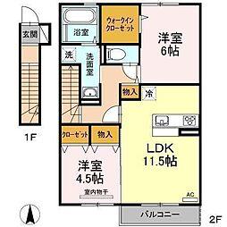 D−room南吉田(仮)[A203 号室号室]の間取り