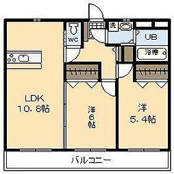 (新築)吉村町中無田マンション[407号室]の間取り
