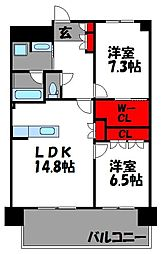 福岡県福岡市東区香椎照葉1丁目の賃貸マンションの間取り