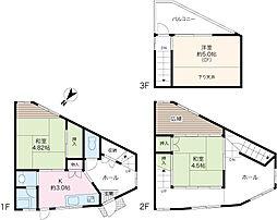 Sendagi Koyama House 1階3Kの間取り
