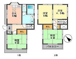 [一戸建] 東京都江戸川区南小岩2丁目 の賃貸【/】の間取り