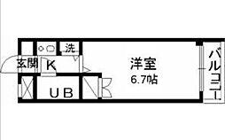 東京都町田市玉川学園2丁目の賃貸マンションの間取り