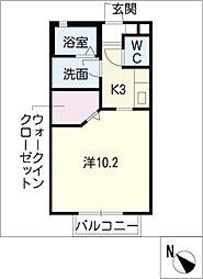ウイングコートB棟[1階]の間取り