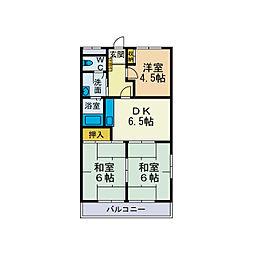 フユーグマンション[3階]の間取り