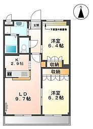 リバーサイドアベニュー[3階]の間取り