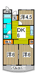 ヤマダマンション[1階]の間取り