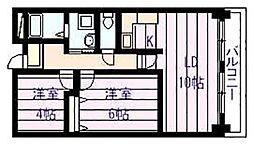 パレ フルール[5階]の間取り