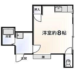 東京都葛飾区立石1丁目の賃貸アパートの間取り