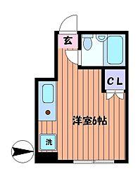 メゾンジュネス[3階]の間取り
