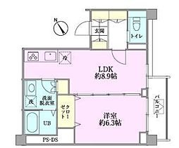 つるまきハウス(フルリノベーション)[402号室号室]の間取り