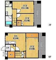 夙川7番街ストークマンション[606号室]の間取り