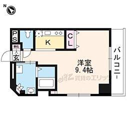 DAIWA RESIDENCE IBARAKI 2階ワンルームの間取り